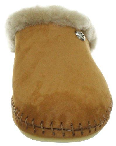 Hans Herrmann Collection HHC 021695-50 Damen Pantoffel Braun (Camel)