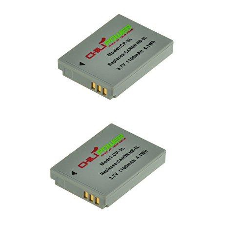 2x ChiliPower NB-5L Batteria (1100mAh) per Canon Powershot S100, S110, SD700 IS, SD790 IS, SD800 IS, SD850 IS, SD870 IS, SD880 IS, SD890 IS, SD900 IS, SD950 IS, SD970 IS, SD990 IS, SX200 IS, SX210 IS, SX220 IS, SX230 HS