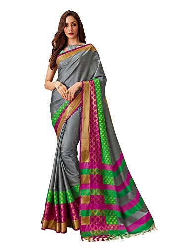 Aarti Apparels Women's Designer Kota Cotton Silk Sari_Sayoni-8004