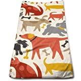 vintage cap Dog with Bones Kitchen Towels - Dish Cloth - Machine Washable Cotton Kitchen Dishcloths,Dish Towel & Tea Towels for Drying,Cleaning,Cooking,Baking (12 X 27.5 Inch)