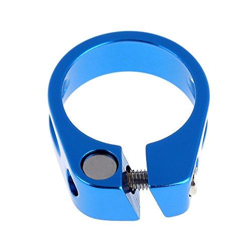 Everpert Drahtesel Fahrrad Schnellspanner, Sattelstütze, Sattel-klemme, Sattel-schelle, Klemmring, Sattelstützenklemme, Schnellverschluss in 34.98MM (Blau) - Blau Klemme Sattelstütze