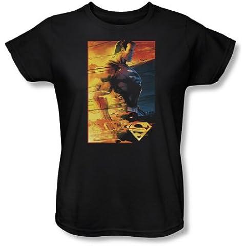 Rivestimento ignifugo-Maglietta da donna, motivo: Superman, colore: