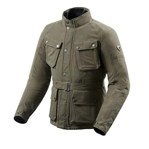 REV'IT! Motorradjacke, Motorrad Jacke Livingstone Textiljacke dunkelgrün XL, Herren, Tourer, Ganzjährig