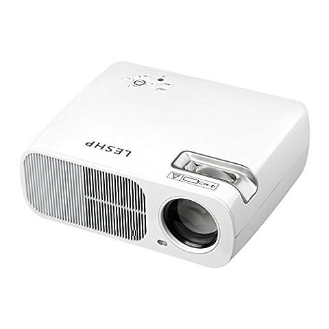 Vidéoprojecteur Tsing Projecteur BL20-Advanced Vidéoprojecteur HD LED Projecteur 3200 LM(Max) 800x480 Résolution 2000:1 Contraste Cinéma Maison Théâtral Support USB/HDMI/TV ou DTV/AV/YPBPR/VGA/Audio Input Douille EU (Blanc BL20)