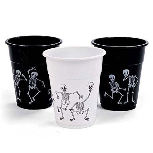 Halloween Skelett bedruckt Einwegbecher ()