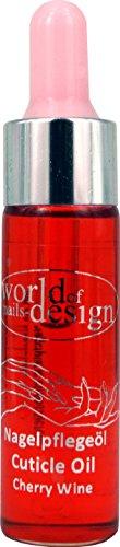 15 ml Nagelöl Cherry-Wine in der praktischen Pipettenflasche
