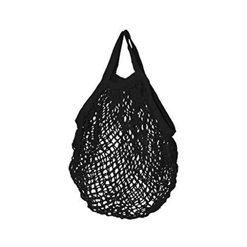 Filet à provisions - Cabas en coton Bio - 45x45cm - Noir