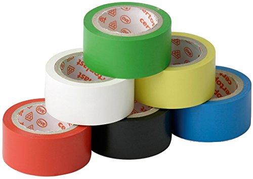 Meister Isolierband 3,3 m x 19 mm - farbig sortiert - 6er Set - hohe Flexibilität und Klebekraft - VDE geprüfte Sicherheit / Isolierband / Klebeband / Dichtungsband / 8632010