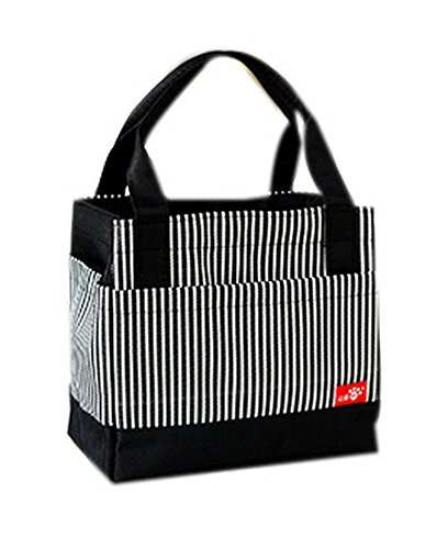 Student Lunch Bag Großer Beutel Lunch Organizer Lunch Holder Mit Seil Schwarz (Kostüme Gruppe Engel)