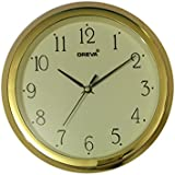 Ajanta (Oreva) Quartz Small Size (24.5 Cm X 24.5 Cm) Plastic Round Shape Wall Clock For Home And Office (Ivory)
