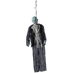 Cadáver de hombre muerto decoración de halloween horror zombi