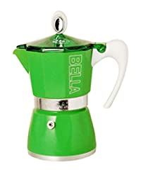 European Gift & Houseware 10-4803 3 Cup Bella Stove-Top Espresso Makers, Tropics Green