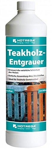 HOTREGA Teakholz-Entgrauer 1 l - Erneuert die natürliche Schönheit des Holzes - Teak- und Harthölzer Aller Art