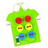 Baosity Perline Da Cucire Per Bambini In Legno Con Filo Per Allacciatura. Giocattoli Da Apprendimento - Verde