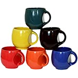 JRP MART NEW Stylish Ceramic MULTICOLOR Medium Size Tea/Coffee Cups (Set Of 6,130 Ml)