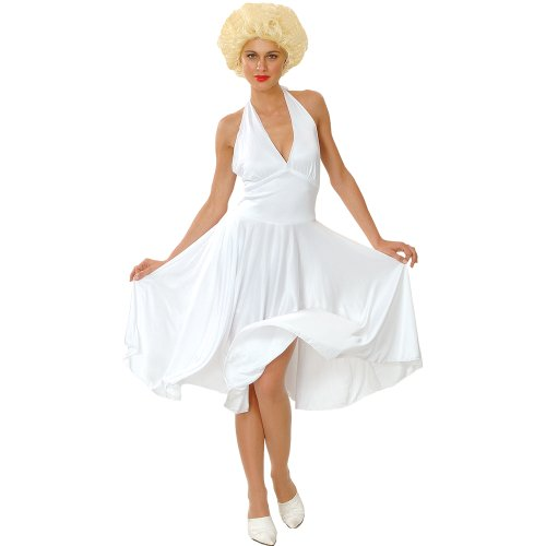 HOLLYWOOD STARLET COSTUME ALL SIZES - FANCY DRESS Marylin Monroe (Hollywood Dress Fancy)