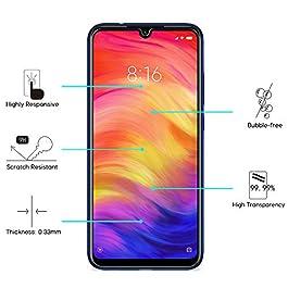 [4 Pezzi] SPARIN Pellicola Vetro Temperato Compatibile con Xiaomi Redmi Note 7 / Note 7 Pro, Pellicola Protettiva per Redmi Note 7/ 7 Pro [Cornice di allineamento] [Ultra Resistente] [Durezza 9H]