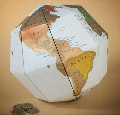 Eine Karte der Welt Karte der zweiten Generation stereo World Map, x 3 x 29,5 21,5