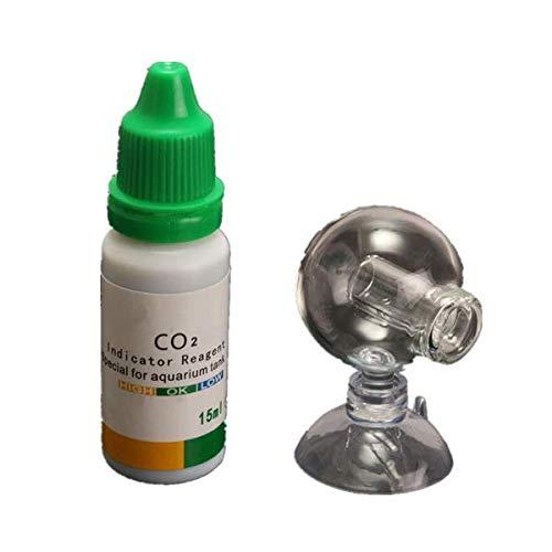 KUNSE Aquarium Kohlendioxid CO2 Monitor pH Indikator Glas Tropfen Kugel Prüfer Tester -
