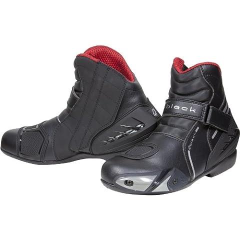 Black Circuit Short Ankle Motorcycle Boots 46 Black (UK12)