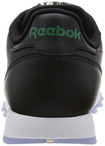 Reebok Jungen Cl Leather Sf Laufschuhe Schwarz / Weiß (Schwarz / Weiß / Eis)