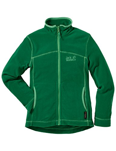 jack-wolfskin-giacca-in-pile-bambino-woodpecker-ii-nanuk-verde-cucumber-green-116-cm