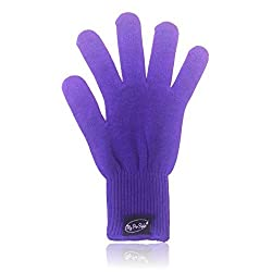 Purple Heat Resistant Glove For Flat / Curling Irons & Other Hot Hair Styling Tools By My Pro Styler