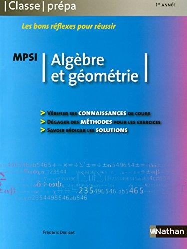 Algèbre et géométrie - MPSI