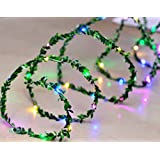 Ascension ® Green Leaf Garland Decoration LED String Light 60 LEDs 7m Leaves Strip Décor Lightning For Patio, Gardens, Bedroom, Dorm Room, Diwali,Navratri Wedding, Halloween Christmas Tree Party