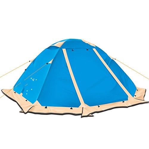 QFFL zhangpeng Zelt-Handdoppeltes Doppelzelt-regendichtes Wasserdichtes Schnee-Rock-Zelt im Freien 3-4 Leute-Zelt-kampierendes Wasserdichtes kampierendes Zelt 2 Farbe optional Tunnelzelte