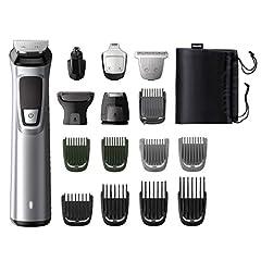 Idea Regalo - Philips MG7730/15 Serie7000 Grooming Kit, Rifinitore Impermeabile 16in1 per Barba, Capelli e Corpo, Grigio