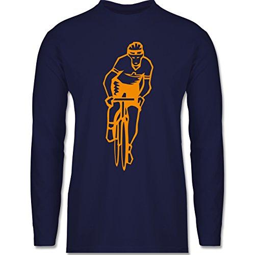 Shirtracer Radsport - Radsport - Herren Langarmshirt Navy Blau
