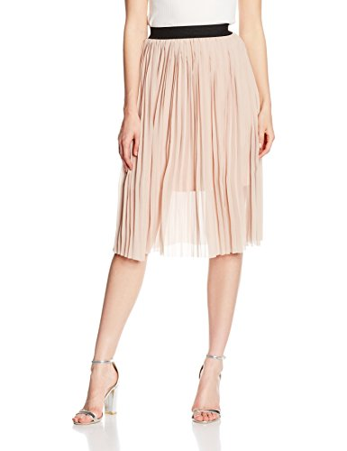 New Look Pleated Sport, Falda para Mujer, Rosa (Nude), 42