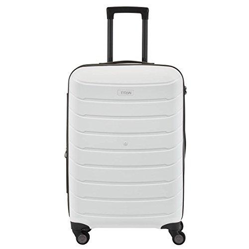 TITAN LIMIT 4w Trolley M, exp., 823405-17 Koffer, 68 cm, 72 L, Pink Weiß (Blanc)