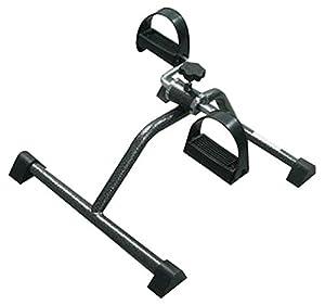 Pedaliera | Cyclette portatile per braccia e gambe | Sport in casa | Intensità variabile | Cinghie per pedali regolabili | Colore cromato | Mod. Camino | Mobiclinic