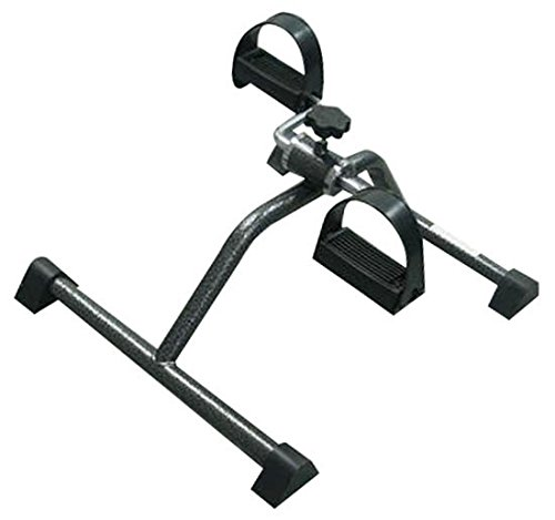 Mobiclinic Pedalier | Aparato ejercitador de Brazos y piernas a la Vez | Apuesta por el Deporte en casa | Intensidad Variable | con Cintas Regulables en el Pedal | Color Cromado | Modelo Camino