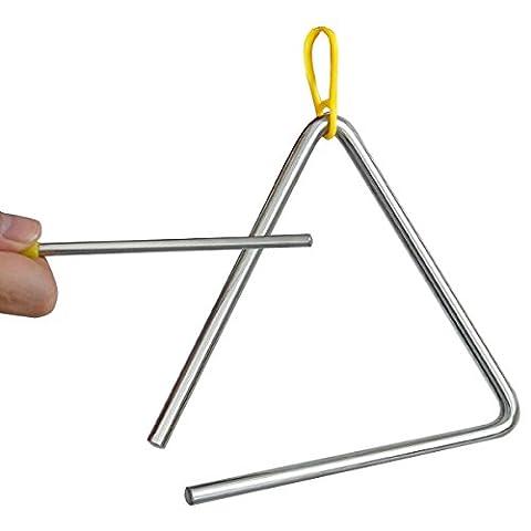 TRIXES Musik-Triangel aus Stahl für die Schule, Kinder, Perkussionsinstrument mit (Strumenti musicali)