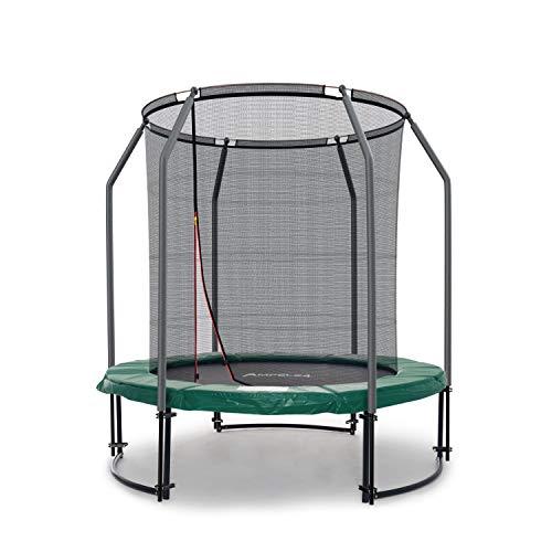 Ampel 24 Deluxe Outdoor Trampolin 183 cm komplett mit innenliegendem Netz, Belastbarkeit 120 kg, Sicherheitsnetz mit 6 gepolsterten Stangen
