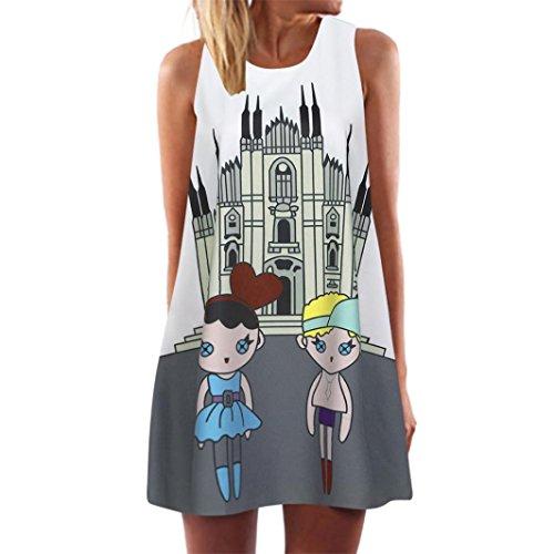 Instalación eléctrica Bricolaje y herramientas Princesa Elegante Vestido Mujer LANSKIRT Mini Vestido Mujer Verano Sin Tirantes Top túnica Camiseta del Oscilación Vestido Suelto con Bolsillos