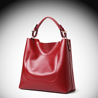 Frauen Tote Rindsleder All Seasons Event / Party and Office & Karriere Rechteck magnetische Braun Rot Pink Rot Schwarz Blau Brown