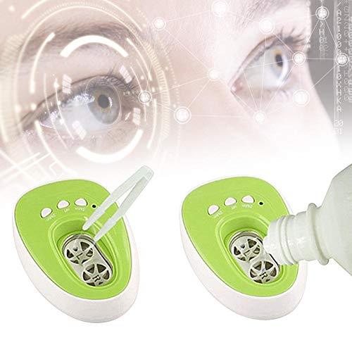 Neufday Design-Ultraschall-Kontaktlinsenreiniger, Kontaktlinsenbehälter, aufladbares USB-Kontaktlinsen-Schnellreinigungsset(EU Plug)