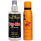 Beverly Hills Polo Club Orange Deo No. 1 For Women 150ml And Pink Root Tag-Him Pour Homme Fragrance Body Spray...