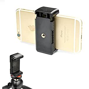 "Ace3C Universal Tripod Mount Adapter for Smart Phones 2.13 - 3.62"" Wide, - Holder Clip Attachment Clamp for iPhone 6 (Plus) 5S 5C 5 4S 4 ipod, Samsung Galaxy S6 S5 S4 S3, Note 4 3 2, LG G3 G2, HTC One M8, Motorola Moto X G, Nexus 6 5, Sony Xperia Z2, and More Cell Phone"