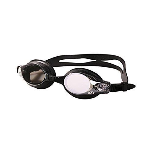 HOGAR AMO Unisex Kurzsichtigkeit -4 Schwimmbrille Versilbert Antibeschlag Größenverstellbar UV-Schutz Erwachsene Schwimmen Brillen mit Aufbewahrungsbox