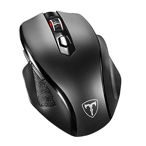 VicTsing Neu Groß Schnurlos Maus Wireless Mouse 2.4G 2400 DPI 6 Tasten Optische Mäuse mit USB Nano Empfänger Für PC Laptop iMac Macbook Microsoft Pro, Office Home - Groß