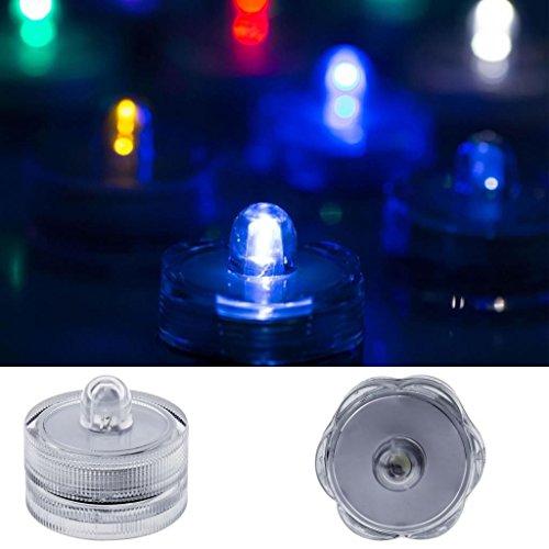 LED Vela 066té luz LED Velas de cera velas de té para fiestas sumergible (Incluye Pilas