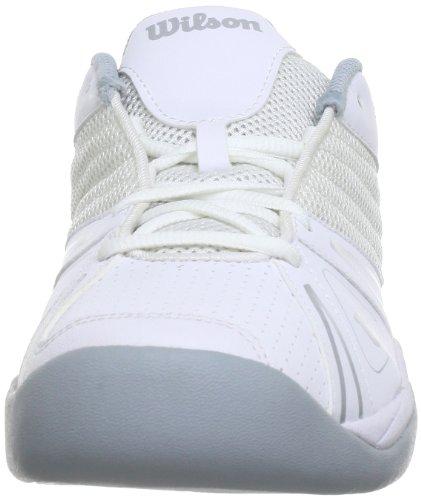 Wilson - J Open Junior Bkbkrd 1, Scarpe Da Tennis infantile Bianco (Weiß (white))