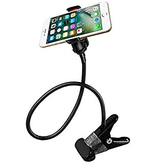 AFUNTA Universal 360 degree Rotation Flexible Long Arms Mobile Phone Holder, Gooseneck Clamp Holder Bracket Stand for iPhone4 / 5 / 5S /6, Samsung Galaxy S3 S4 S5, Note2 / Note3, Android and Most Mobiles and Cameras