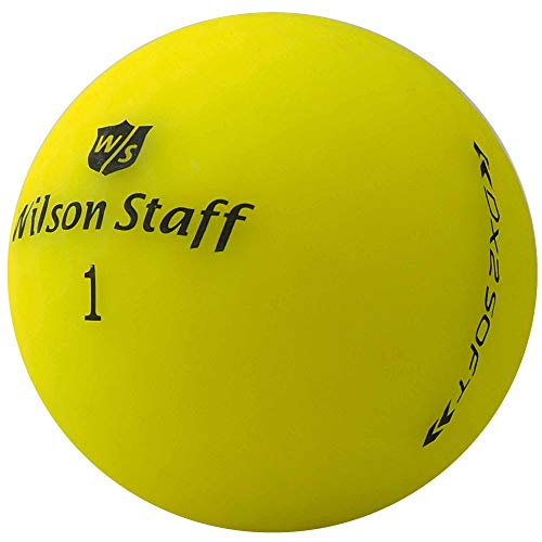 lbc-sports Wilson Staff Dx2 / Duo Soft Optix Golfbälle - AAAAA - PremiumSelection - Gelb - Mattes Finish - Lakeballs - gebrauchte Golfbälle (50 Bälle) (Wilson Duo Golfbälle)