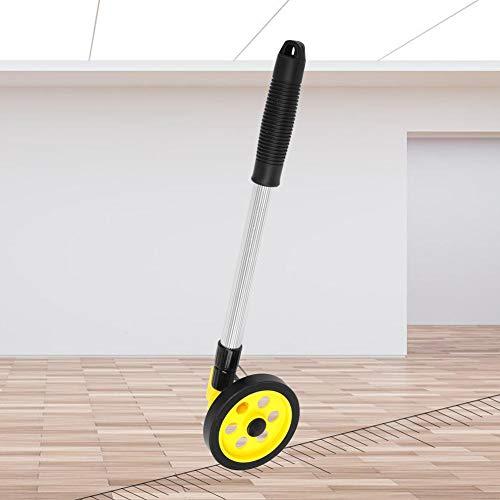 Rueda de Medición con Varilla Telescópica de Aluminio 0-999,9m Rueda de Plástico Elástico TPR Odómetro Plegable